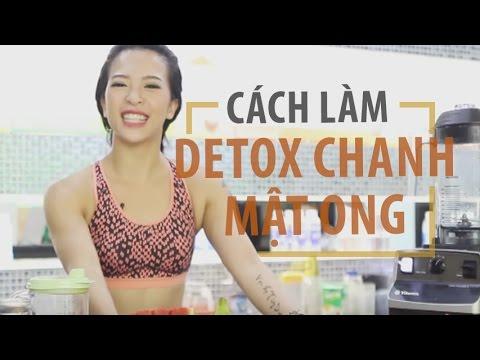 Cách làm nước DETOX CHANH MẬT ONG | Hana Giang Anh | Nutrition #1