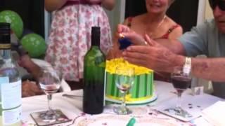 Nans 80th Daffodil Cake