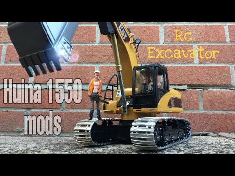 HUINA 1550 RC EXCAVATOR UPGRADE MODS HOW TO VIDEO