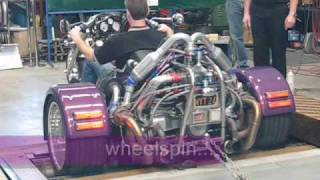 leon s twin turbo vw powered trike on the dyno