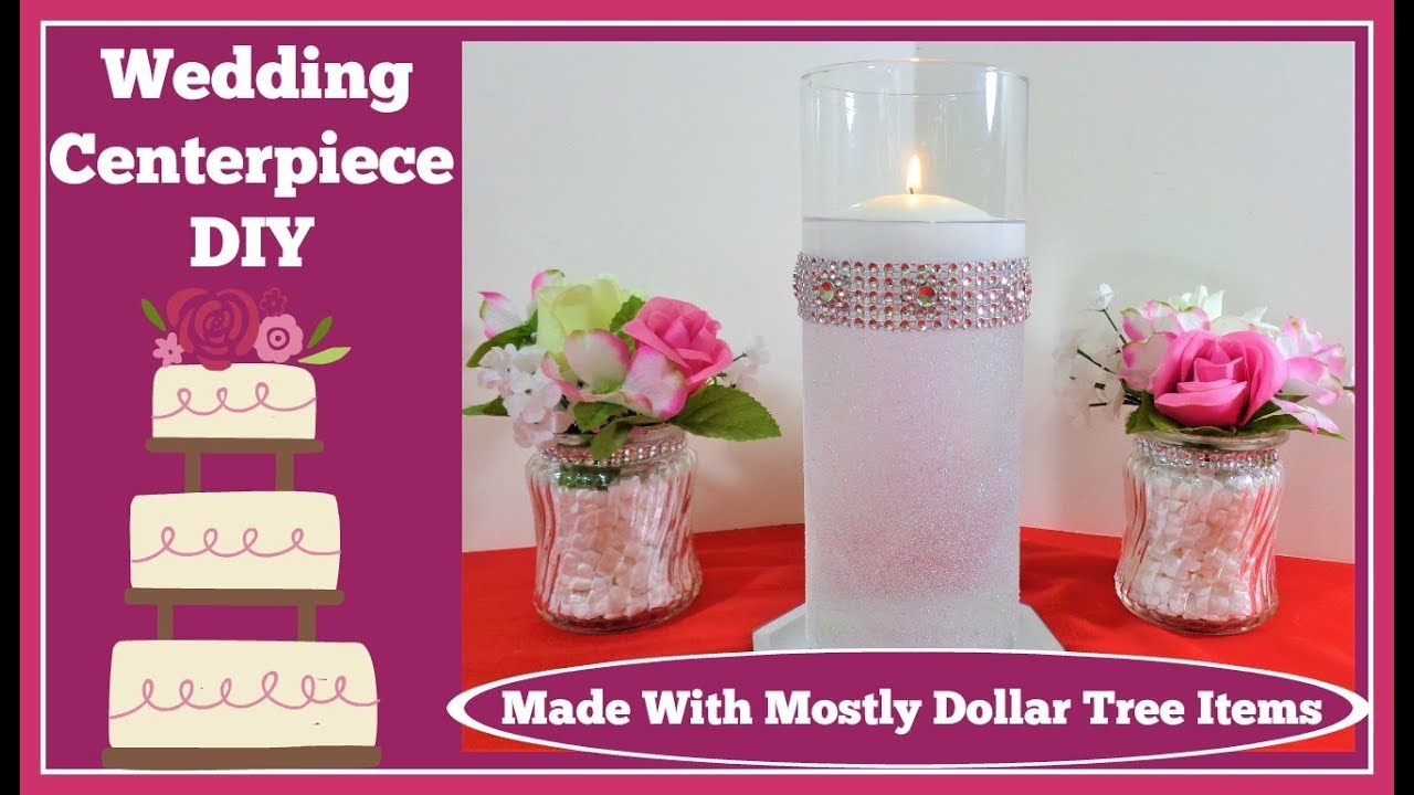 💍Wedding Centerpiece💍 with Floating Candle and💍 Glitter - YouTube