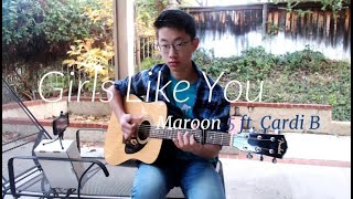 Download Maroon 5 - Girls Like You ft. Cardi B- Cover(Fingerstyle Guitar)[+FREE TABS] Mp3