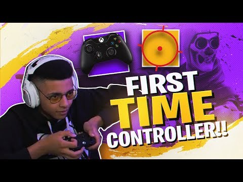 PLAYING FORTNITE WITH A CONTROLLER! (MY FIRST TIME)