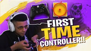 PLAYING FORTNITE WITH A CONTROLLER MY FIRST TIME