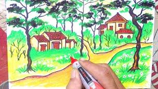 Vẽ bức tranh Phong cảnh Đà Lạt