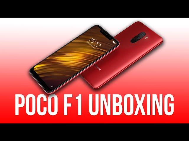 Xiaomi Pocophone POCO F1 Unboxing (Rosso Red) - SKBHD