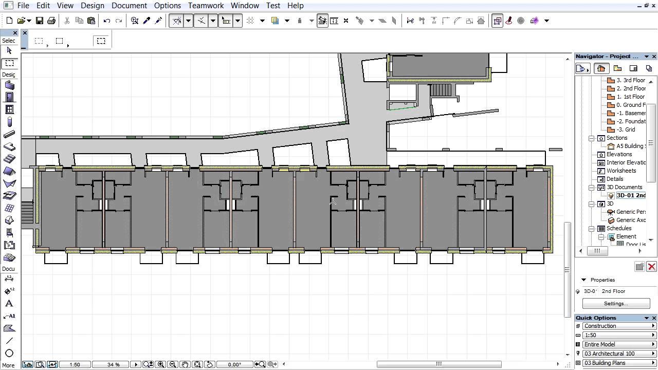 creating a 3d floor plan archicad 3d document youtube. Black Bedroom Furniture Sets. Home Design Ideas