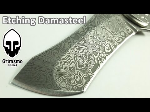 KMT 106 - Etching Damasteel knife blades with muriatic acid