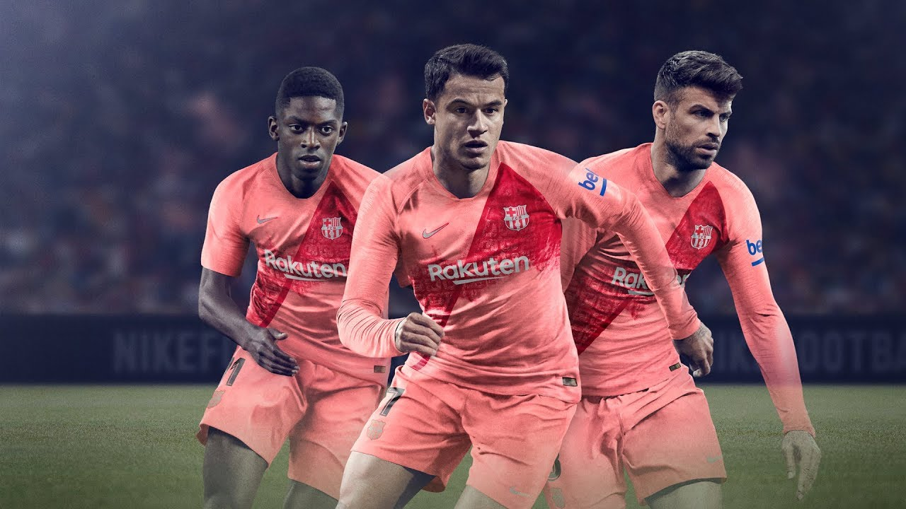 57b591a73 FC Barcelona new third kit 2018 2019 - YouTube