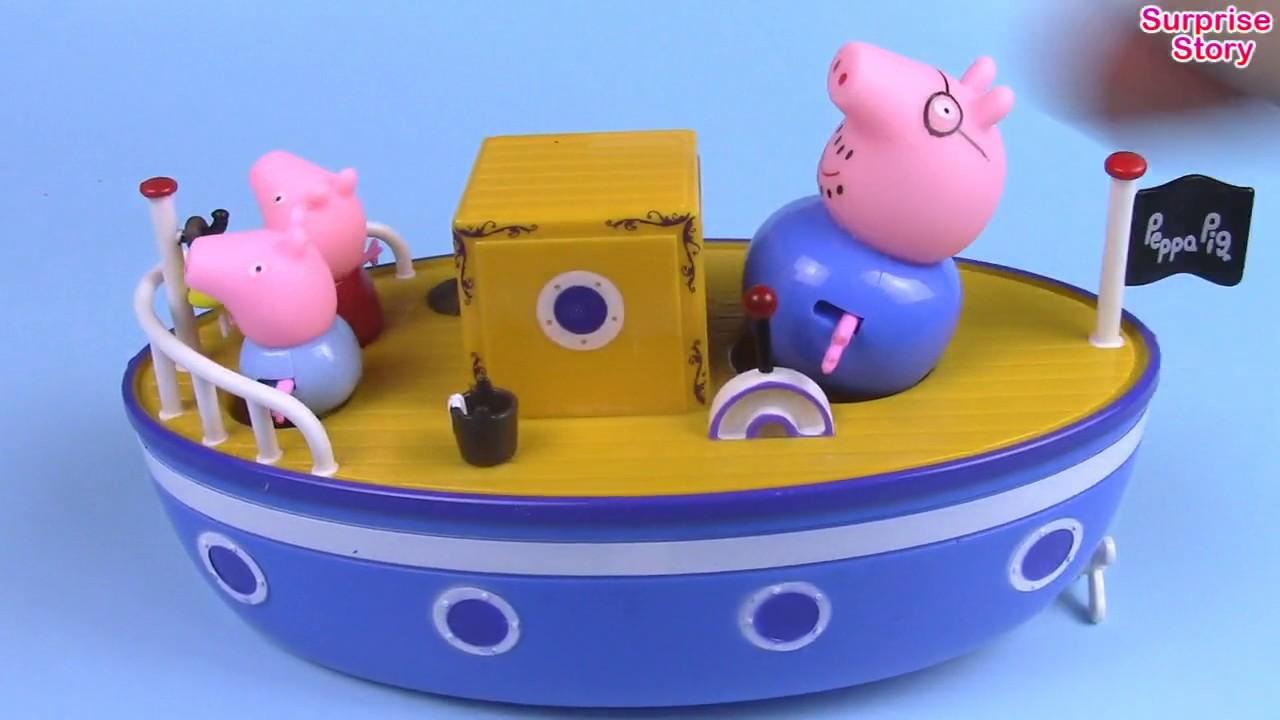 Pirate Pig George and Pirate Peppa Pig on Grandpa\'s Boat Bathtime ...