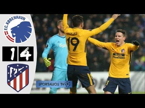 HD| FC COPENHAGEN 1-4 ATL MADRID - HIGHLIGHTS - UEL - FEB 2018 - Sportalios TV