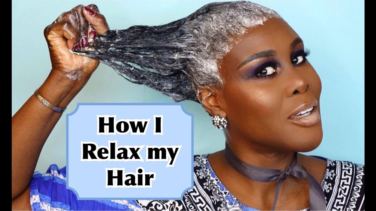 How I Relax Style My Hair At Home Tutorial Fumi Desalu Vold Youtube