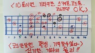 [통기타강의]📮평생 기억할수있는 신기한 기타의 원리📮10분이면 기타지판 스케일 코드톤 코드진행을 쉽게 한번에 다외울수있는 암기법📮10년기타를쳐도 몰랐던 신기한 원리📮