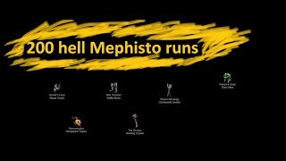 Detorius 10 - hell Mephisto 200 runs - DIABLO 2 SP barbarian