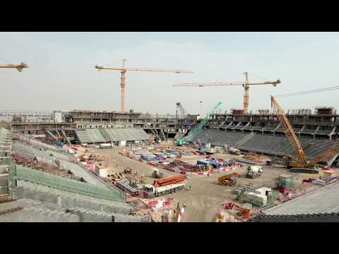Qatar show progress of stadiums ahead 2022 FIFA World Cup Mp3