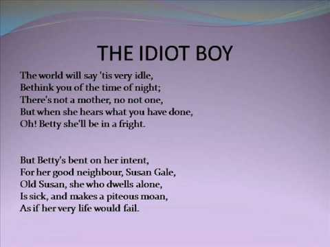 Lyrical Ballads by William Wordsworth & S T Coleridge Part 5