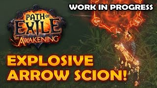 Path of Exile: Explosive Arrow Scion Build In Progress - Tempest Endgame Gameplay