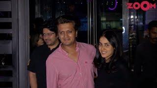 Riteish Deshmukh, Genelia D'Souza, Esha Gupta, Urvashi Sharma & Sachin Joshi Spotted at a Restaurant