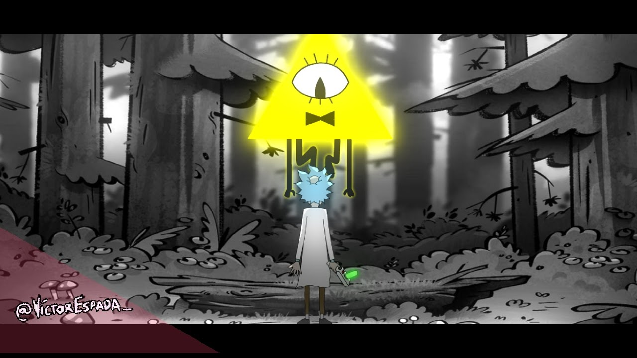 Gravity Falls Bill Cipher Wallpaper Rick And Morty Gravity Falls Mashup Intro Theme Youtube
