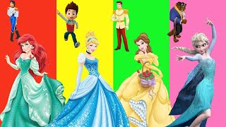 Wrong Boy Friend Love Story Disney Princess Ariel Finger Family Nursery Rhymes Kid Song Learn Colors