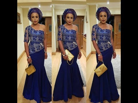 Lace Material Styles : Beautiful Aso EBi Design For African Ladies