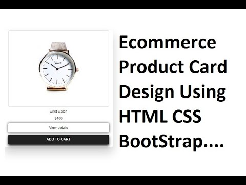 Ecommerce website Design of product card using html css and Bootstrap || Ecommerce Product Card