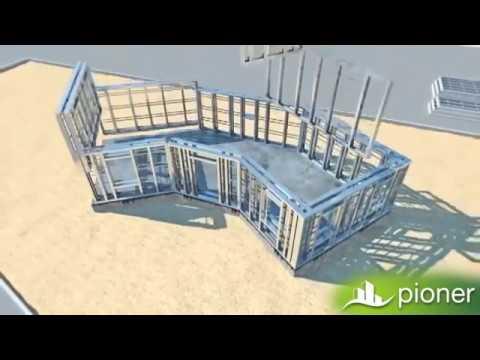 Light gauge steel and lightweight concrete construction technology