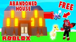 This Abandoned House Gave Away FREE LEGENDARY PETS In Adopt Me!  (Roblox)