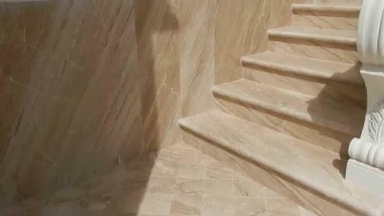Favoloso Rivestimento esterno e scala esterna in marmo. - YouTube NG31