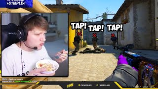 S1MPLE GOES 1 TAPS ONLY! NEW UPDATE BROKE THE GAME?! CS:GO Twitch Clips