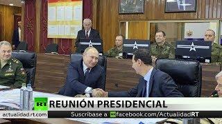 Putin llega a Damasco y conversa con Al Assad