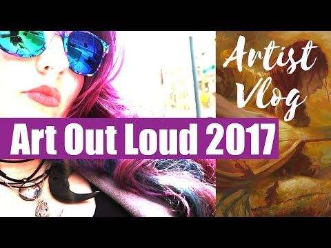 Artist Vlog // NYC Trip to Art Out Loud // Painting Demo by Donato, Manchess, and Barlowe