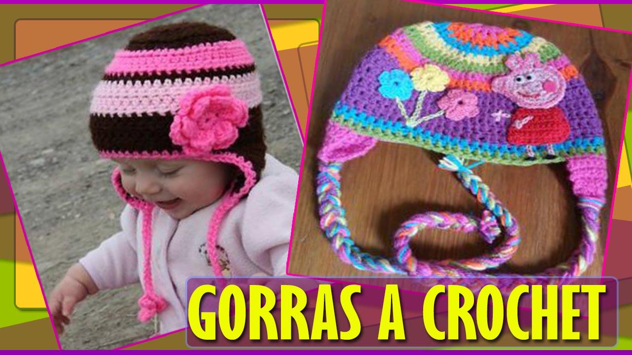 Gorras Para Bebe Niños Tejidas a Crochet - YouTube 38c2940b6da