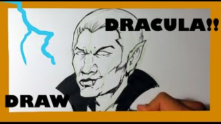 How to Draw Dracula - Halloween Drawings