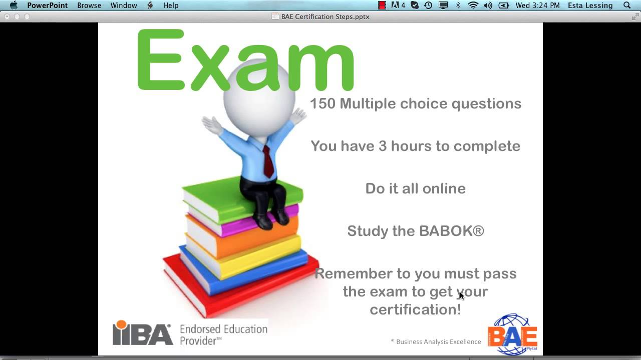 Iiba Certification Process Overview Of Iiba Business Analysis