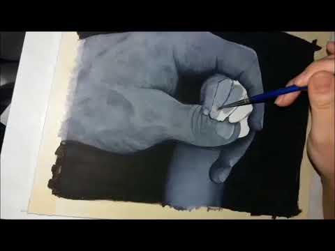 Painting Hands  (Music: Coldplay - Viva La Vida)