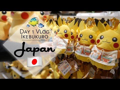 Pokemon center and aquarium vlog plus UFO catchers in Ikebukuro, Japan!   The Crane Couple in Japan