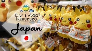 Pokemon center and aquarium vlog plus UFO catchers in Ikebukuro, Japan! | The Crane Couple in Japan