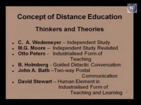 Concept Scope and Features of Distance Education
