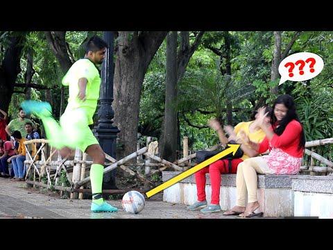 Epic Football Prank On Cute Girls 😲😲 PrankBuzz   Prank In India