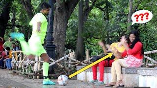 Epic Football Prank on Cute Girls 😲😲 Prank Gone Wrong | PrankBuzz | Prank in India