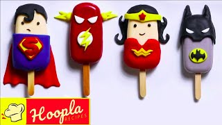 Justice League Cakesicles! | Superhero Cakes | Hoopla Recipes