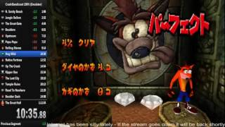 Crash Bandicoot 100% Speedrun 1:11:08 (NTSC-J, Emulator)
