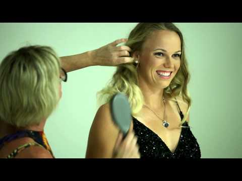 Caroline Wozniacki shows us her glamorous side! Brisbane International 2013