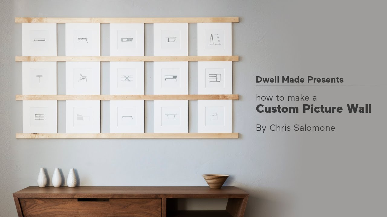 diy picture wall a dwell made project youtube