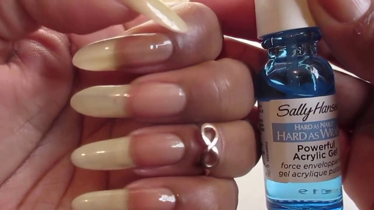 Sally Hansen Hard as Nails Hard As Wraps for Natural Nails - YouTube