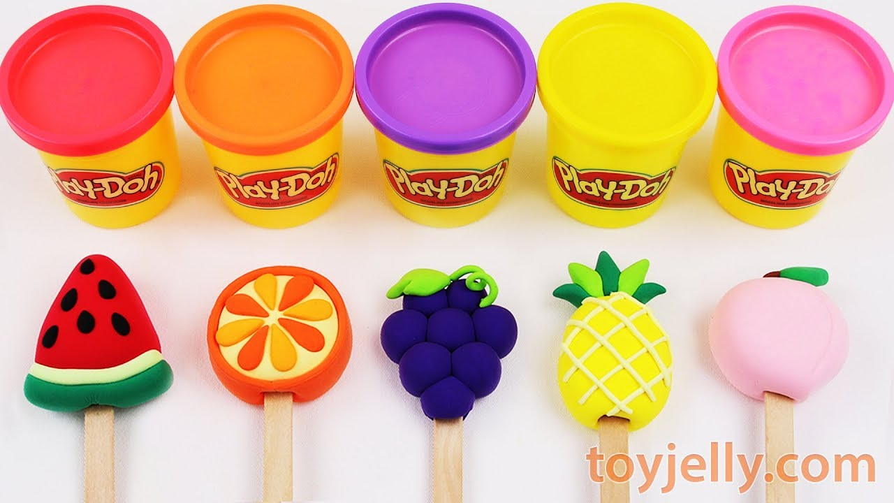 Toy Popsicles Ice Cream Play Doh Learn Colors & Fruits for Toddlers Play Doh Dentist Doctor Toy