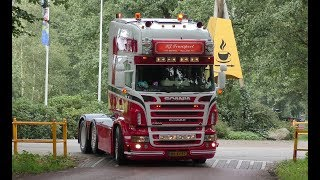 Uittocht Truckschow Appelscha 2017 with  Scania V8, DAF, Volvo open loud pipes 4K UHD