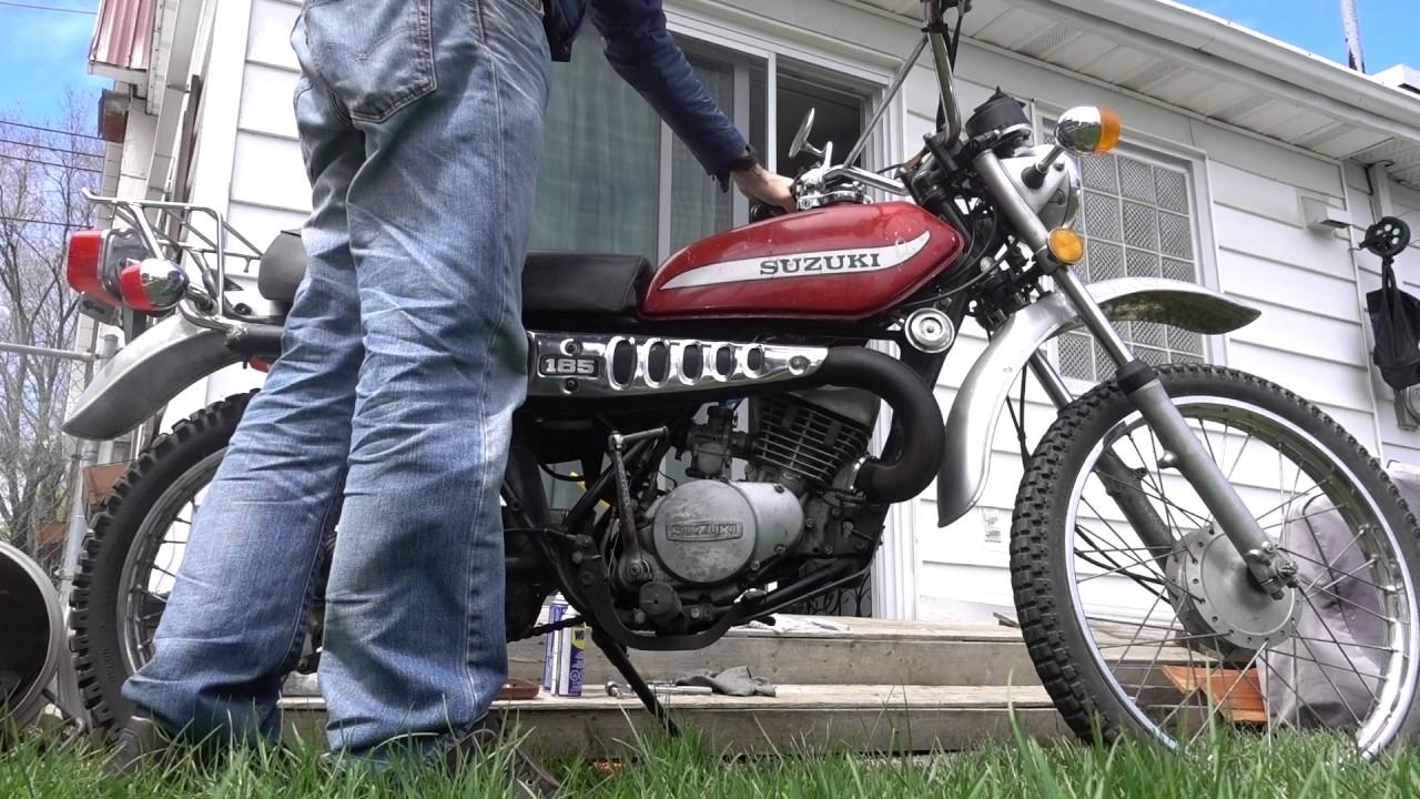 Suzuki TS185 1975 first start