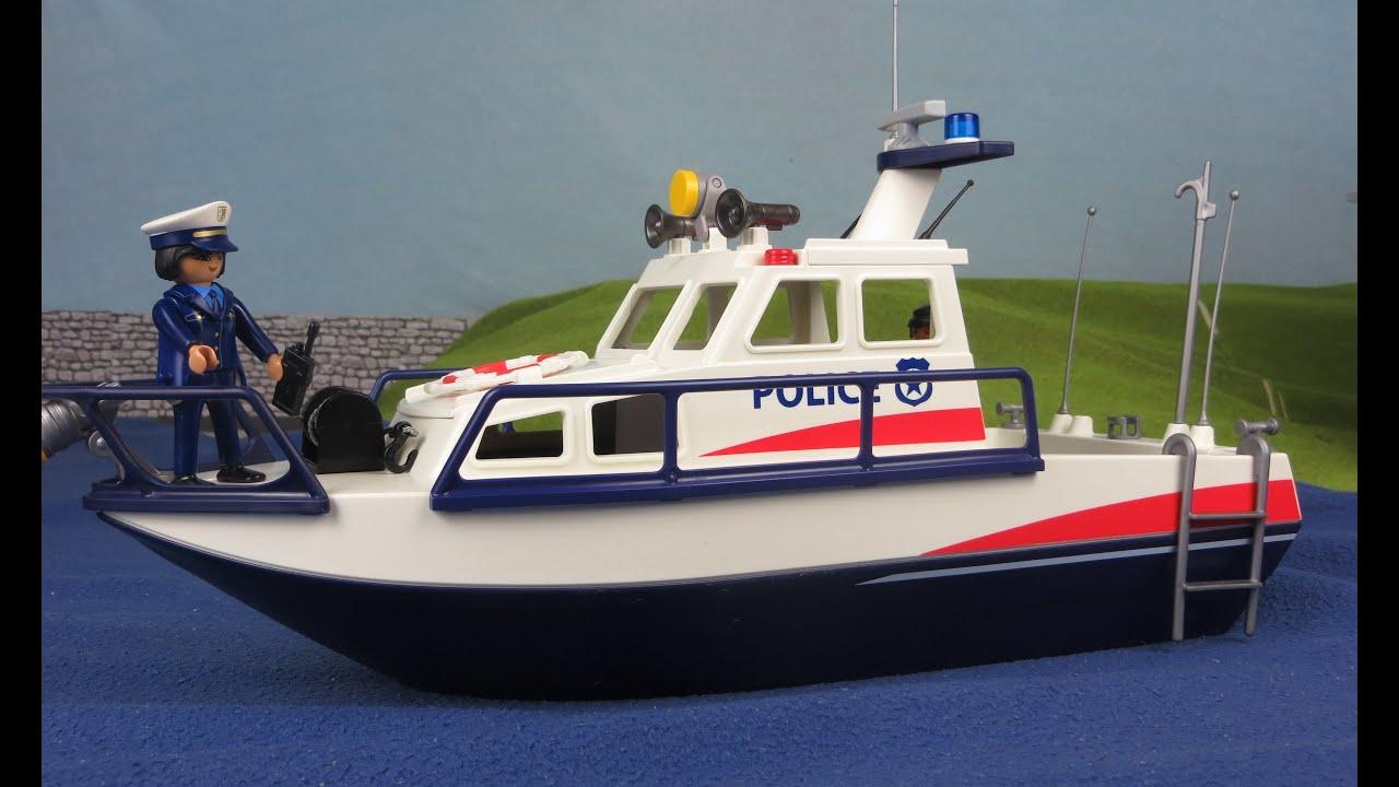 playmobil polizei deutsch polizeiboot ausgepackt für